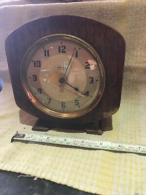 Smiths 30 Hour Mantle Clock -untested Chunky Wooden Bold Numerals- Vintage Retro