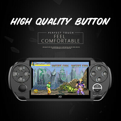 8GB Handheld PSP Game Console Player Built-in Games 5.0'' Gaming Gift Portable