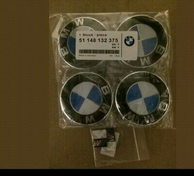 Bmw Centre Caps 68Mm With Wheels Stickers