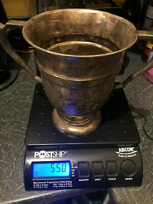 1924 SOLID STERLING SILVER TROPHY 550g