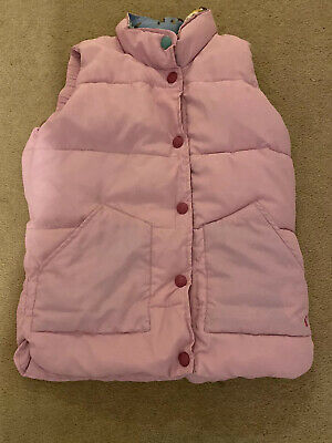 Girls Joules Pink Gilet Age 11-12