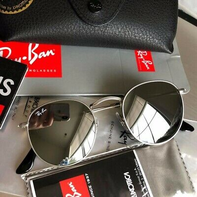 rand New Authentic Ray-Ban RB3447 Round Metal