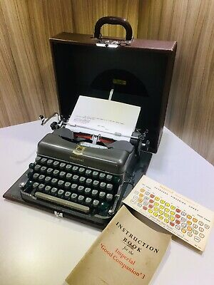 Lovely Imperial Good Companion 3 Portable Typewriter Fully Working + Case/Manual