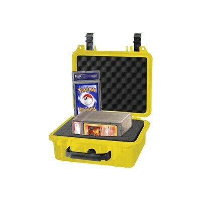 Graded Card Storage Box for PSA BGS One-Touch Small Size Yellow Waterproof Case
