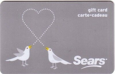 Sears LOVE BIRDS COLLECTIBLE Gift Card New No Value BILINGUAL*
