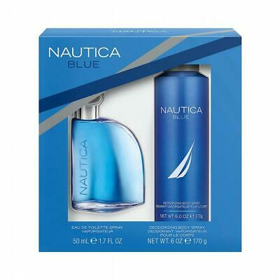 Nautica Blue Sail 1.7 oz Cologne EDT & Deodorizing Body Spray Gift Set New NIB