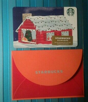 Starbucks House GIFT CARD with Sleeve, 2019 Christmas, COLLECTIBLE New Recycled