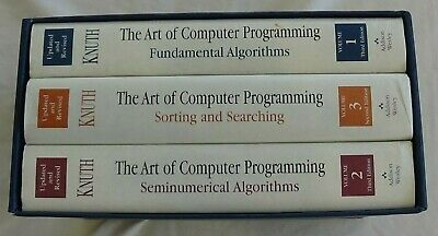 The Art of Computer Programming, Vols. 1-3 Hardcover Donald E. Knuth