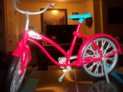 "Mattel Barbie doll Bicycle pink butterflies Glam Bike 11"" x 7.5"""