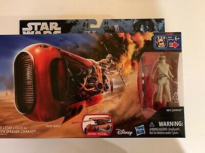 "Star Wars The Force Awakens Rey's Speeder with Rey (Jakku) 3.75"" Figure NEW"
