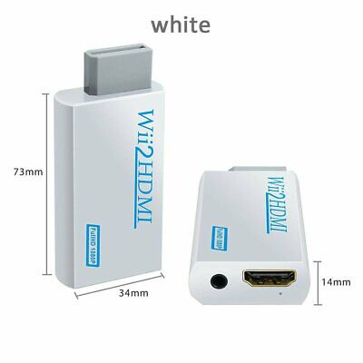 New HDMI Adapter 1080p Wii to HDMI Converter 3.5mm HD Video Output Adapter Audio