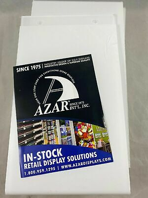 "AZAR Clear Wall Hanging Retail Sign Holder 9.5"" X 5.5"" Display Protector 10 Pack"