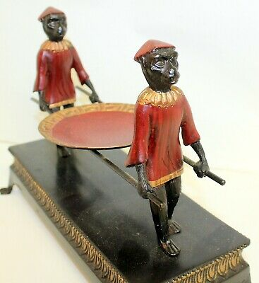 Vintage Sacred Egyptian Baboons Offering Figurines Egyptian God Thoth Statuette