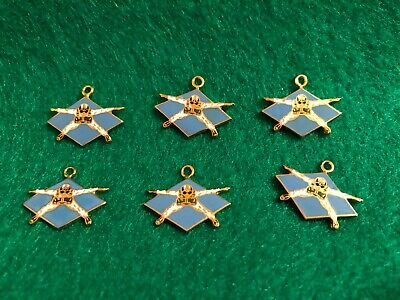 Lot of 6 1970's Vintage Parachute Skydiving Charms