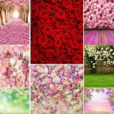 Floral Flower Sea Photo Background For Birthday Wedding Party Studio Backdrops
