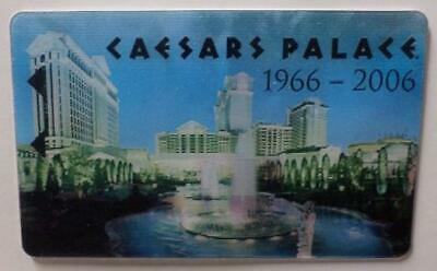 CAESARS PALACE casino*40th ANN 1966-2006 LENTICULAR** Las Vegas hotel key card