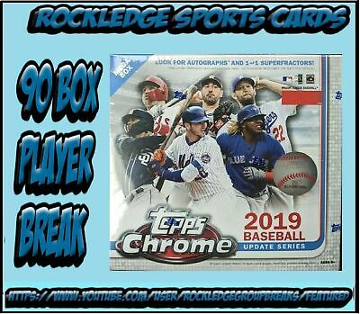 Fernando Tatis Jr Rookie RC Padres 2019 Topps Chrome Update 90 Box Player Break