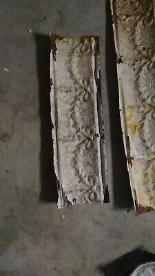ERLY 1900's ANTIQUE METAL TIN CEILING TILE CROWN MOLDING  20.5""