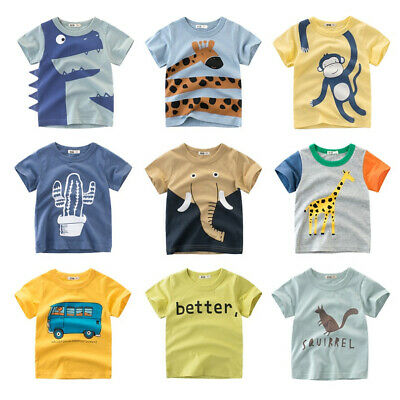 Cartoon Print Baby Boys Dinosaur T Shirt For Summer Infant Kids Boys Girls Lion