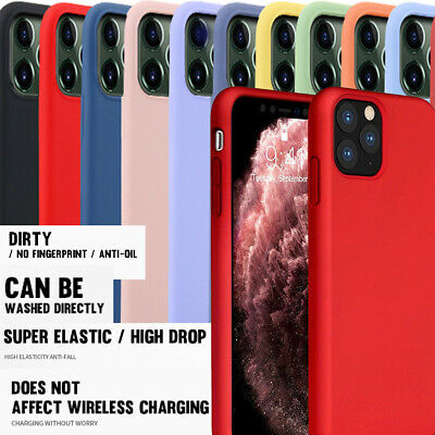 For iPhone 11 Pro Max XS XS MAX Case Shockproof Liquid Silicon Rubber Wash Case