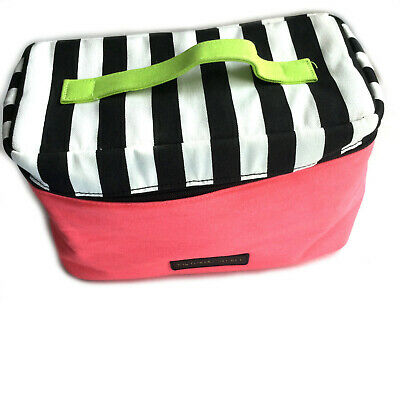 Victoria's Secret Lingerie Train Case Travel Bag - Bra Panties - Pink Black