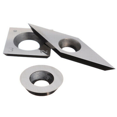 3pcs Tungsten Carbide Inserts Cutter Turning Woodworking Lathe Tools Supplies