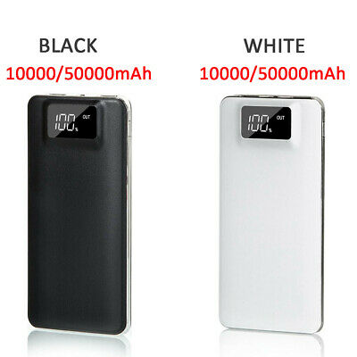 50000mAh External Power Bank Dual USB Battery Charger For Mobile Phone Portable