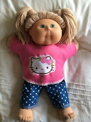 """DOLLS CLOTHES fit 16"""" CABBAGE PATCH DOLL - Pants, Top : Pink : Hello Kitty"""