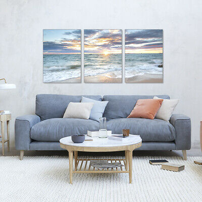Beach Seascape Canvas Painting Wall Art Picture Print Living Room Home Decor