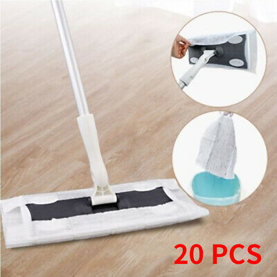 20Pcs Wood Tile Laminate Floor Cleaner Static Cleaning Mop Wet or Dry Wipe