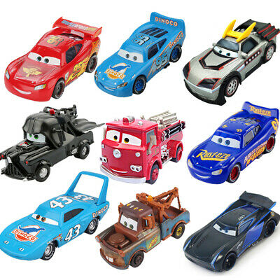 Pixar Cars Mini 3 Kids Toy Mater 1:55 McQueen Jackson New Racers Bags Children