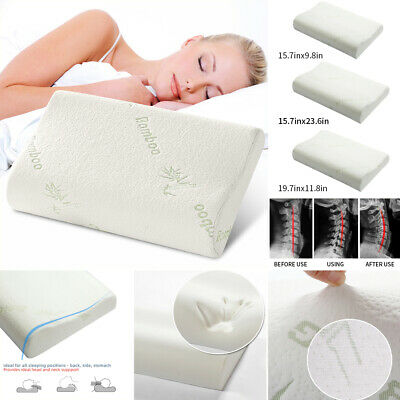 Bamboo Fiber Pillow Memory Foam Pillows Breathable Pillow Orthopedic Neck Relief