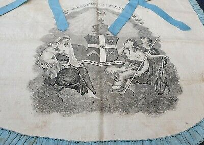 Antique Freemason Apron Very Old
