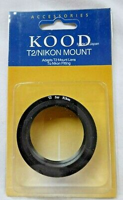 T2 Lens to Nikon Mount Adaptor Ring for Digital & Film SLR Camera's