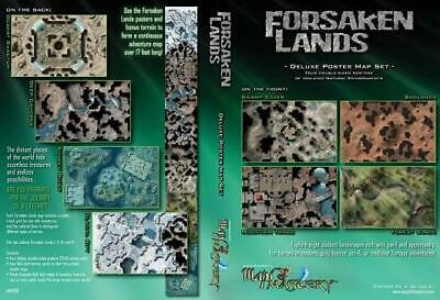 Maps of Mastery Maps of Mastery Forsaken Lands - Deluxe Poster Map Set MINT