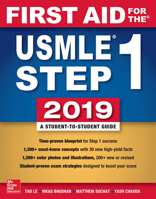First AID for the USMLE Step 1 2019, 29th Edition by Tao Le (Read Description)