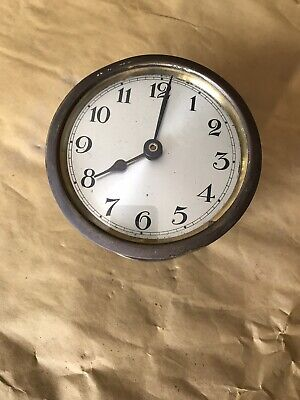 ANTIQUE OLD round UNKNOWN MAKE smiths sec 8  day ? clock movement