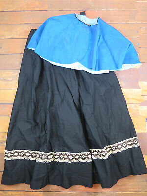 Victorian Style Skirt & Cape - Costume - Christmas Markets - Theatrical UK 14/18