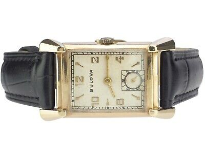 Bulova Watch & Co.USA Art Deko Damen Herren Armbanduhr 10 Karat Gold Filled