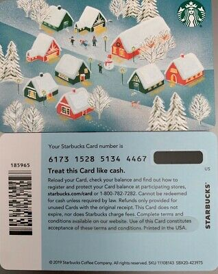 "2019 Starbucks Christmas ""Village"" Gift Card #6173 No Value Mint"