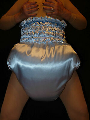 R2*very high waist thick lined and padded diaper*Spreizhose SATIN Adult Baby