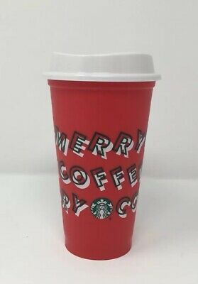 Starbucks Holiday Merry Coffee Reusable 2019 Hot 16 oz Red Cup (.50 Discount)