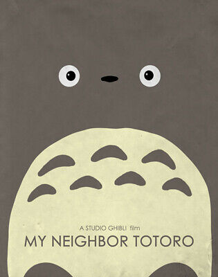 MY NEIGHBOR TOTORO Poster | A4 A3 & A3+ Sizes Laminated | HD Print STUDIO GHIBLI