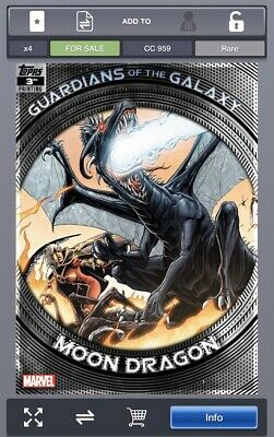 Topps Marvel Collect GUARDIANS OF THE GALAXY 3rd Printing Moon Dragon