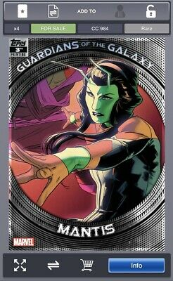 Topps Marvel Collect GUARDIANS OF THE GALAXY 3rd Printing Mantis