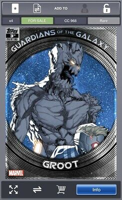 Topps Marvel Collect GUARDIANS OF THE GALAXY 3rd Printing Groot