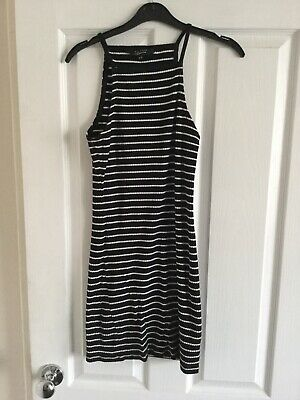 New look 915 Black & White Striped Sleeveless Dress Age 14-15