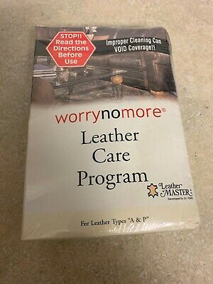 "Leather Furniture Worry No More Leather Care Program for Leather Types ""A & P"""