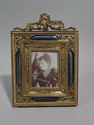Antique Frame - Picture Photo Rococo Revival - French Gilt Bronze & Enamel