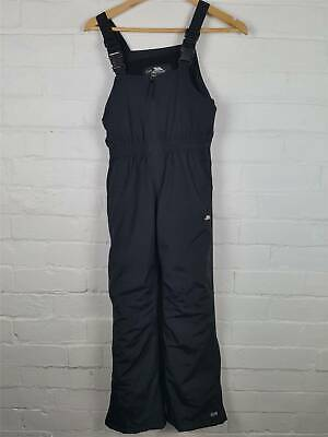Kids Tresspass Unisex Black Waterproof Overalls Size 9-10 Years